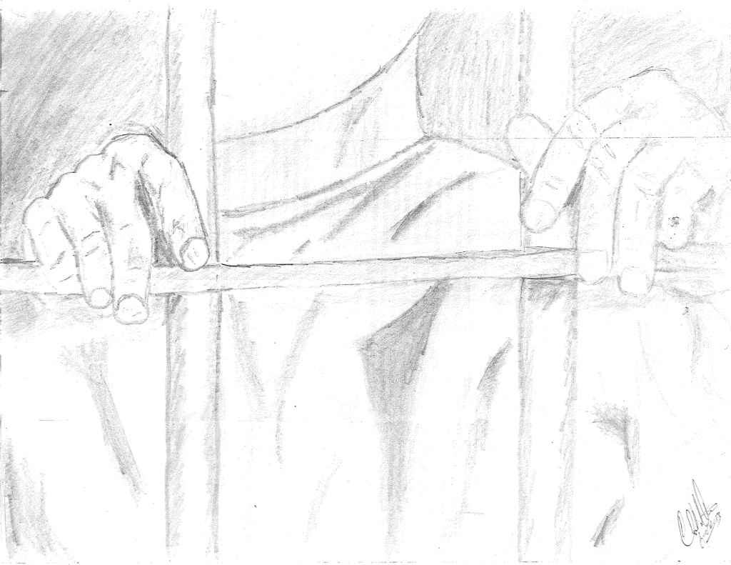 Some art recently submitted by a Durham County jail inmate. Made with a 'golf' pencil under time constraints.